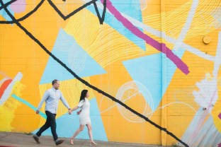 atlanta westside engagement session, Westside Provisions District, Westside Cultural Arts Center
